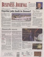 Denver Business Journal, February 2012 {Folsom Custom Skis}