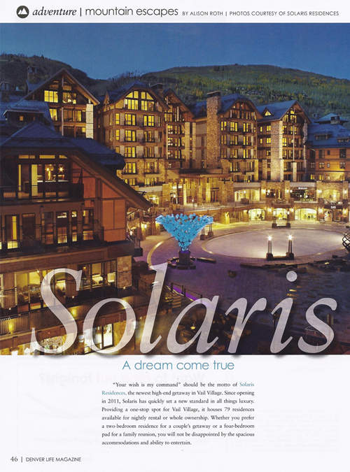 Denver Life, June/July 2012 {Solaris, Fluff* Bar & St Julien Hotel & Spa}