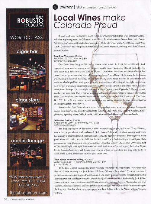 Denver Life, July/August 2012 {Local Table Tours}