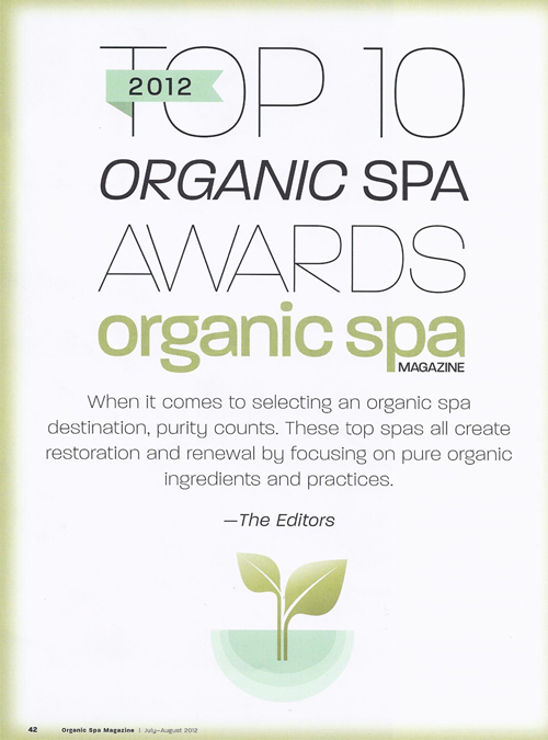 Organic Spa, August 2012 {St Julien Hotel & Spa}