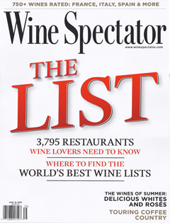 Wine Spectator, August 2012 {St Julien Hotel & Spa, Kevin Taylor Restaurant Group & Solaris}