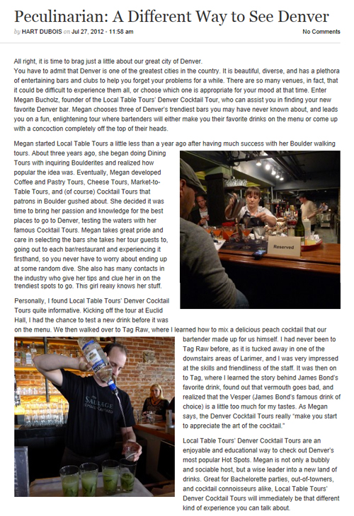 303 Magazine Online, July 2012 {Local Table Tours}