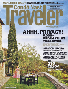 Condé Nast Traveler, March 2013 {St Julien Hotel & Spa}