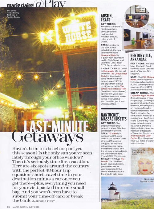 Marie Claire, July 2013 {The Outlook Lodge}