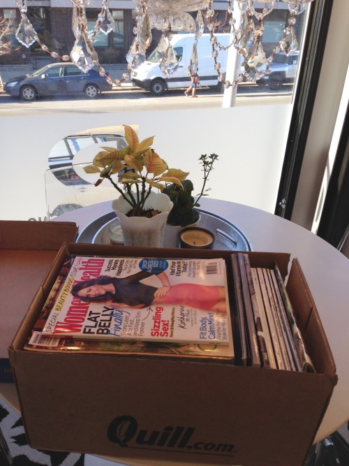 Sending Our Magazines to Work