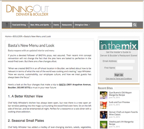 Basta Dining Out Clip 1
