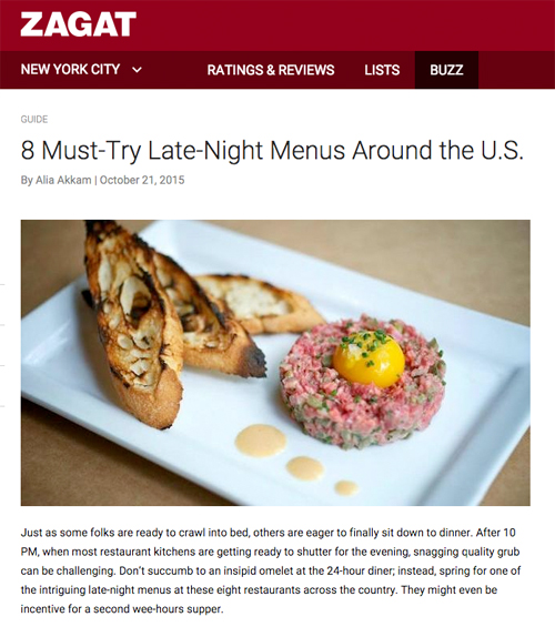 Zagat Cart Late Night Clip 1
