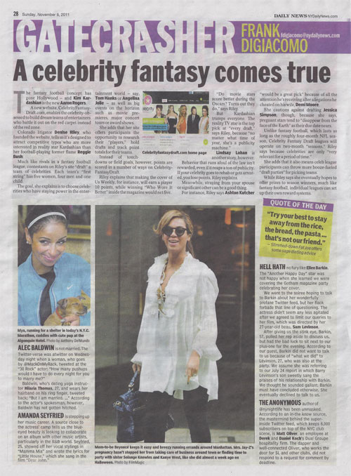 NY Daily News, November 2011