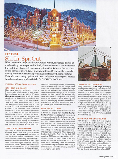 Spa, Winter 2012 {C Lazy U}