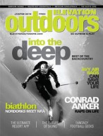 Elevation Outdoors, January/February 2012 {Folsom Custom Skis & Solaris}