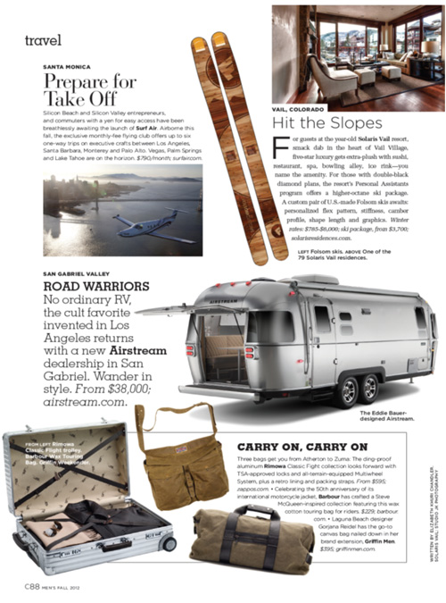 C California Style for Men, Fall 2012 {Solaris and Folsom Custom Skis}