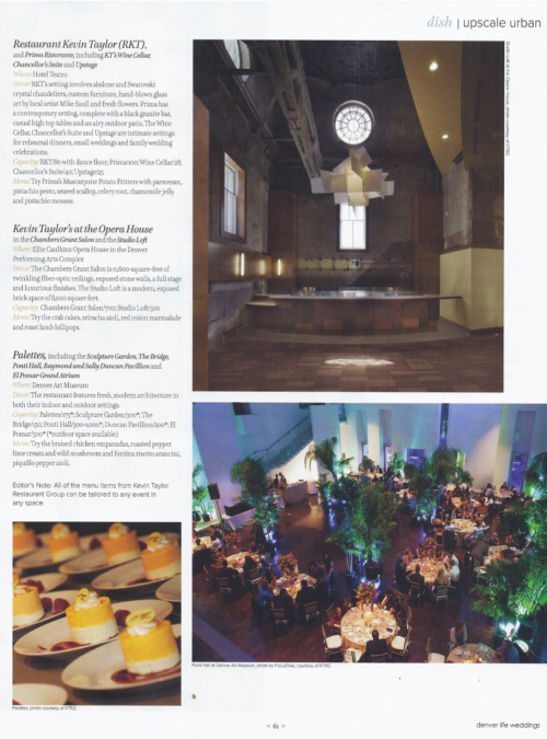 Denver Life Weddings, Fall/Winter 2013 {Kevin Taylor Restaurant Group}