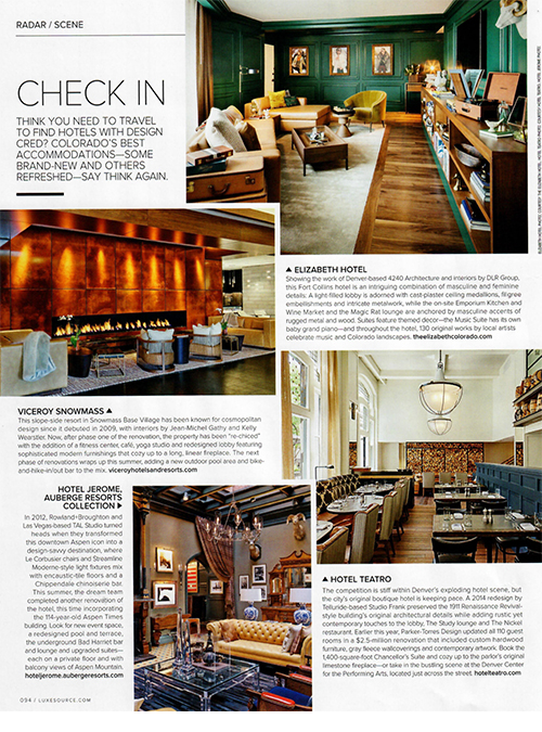 Luxe Interiors + Design, July 2018 {The Elizabeth Hotel